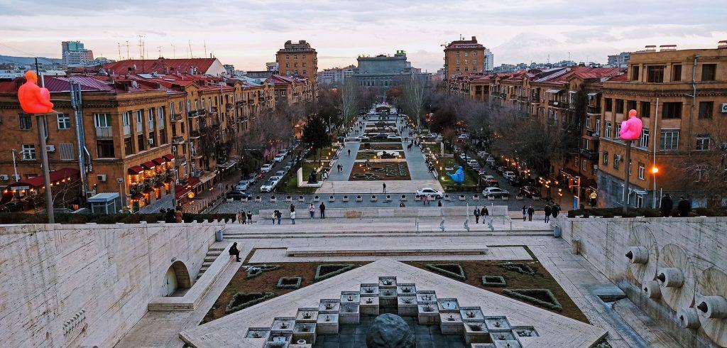 Yerevan Panorama from Cascade hill, 2021